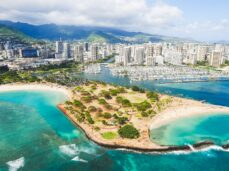 aerial-shot-of-honolulu-hawaii-during-the-month-of-june