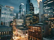 high-rise-buildings-during-night-time