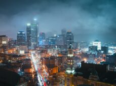 birds-eye-view-photography-of-lighted-city