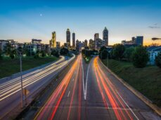 timelapse-photo-of-highway-during-golden-hour